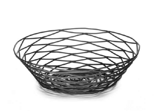 ARTISAN ROUND BLACK WIRE BASKET