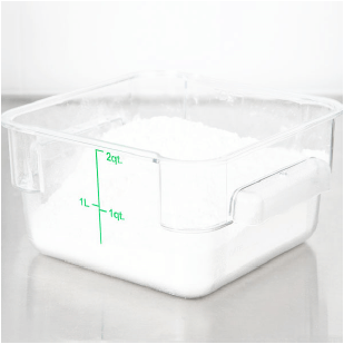 CLEAR SQUARE POLYCARBONATE FOOD STORAGE CONTAINER