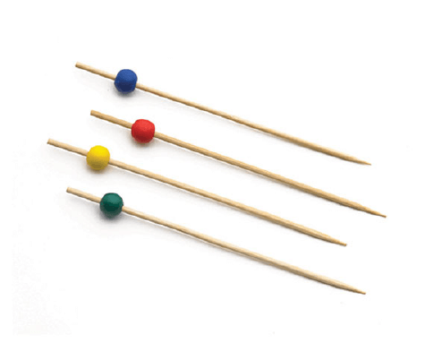 COLORS BAMBOO WOOD PICK-7""