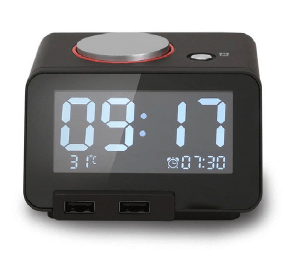 DIGITAL ALARM CLOCK WITH DUAL USB CHARGER