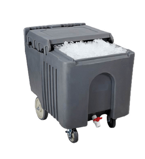 INSULATED ICE CADDY WITH SLIDING LID