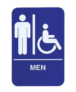 PLASTIC MEN AND HANDICAP ACCESSIBLE BRAILLE SIGN