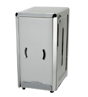 STAINLESS STEEL FULL-SIZE COUNTERTOP NAPKIN DISPENSER