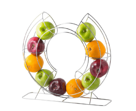 CHROME PLATED CIRCULAR FRUIT BASKET